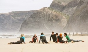 surf yoga beach holiday