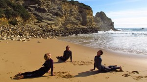 yoga beach surf lesson surf yoga summer holidays